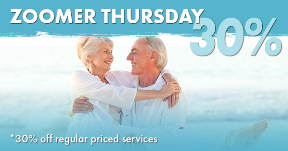 Zoomer Thursday 30% off regular priced services